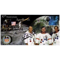 Apollo 16 Charlie Duke autograph authentic genuine signed cover COA