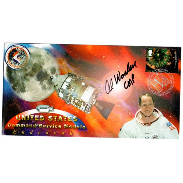 Apollo 15 CMP Al Worden autograph authentic genuine signed cover COA