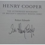 Henry Cooper The Authorised Biography genuine authentic autograph signed book