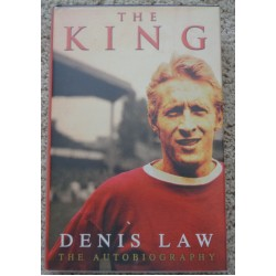 "Denis Law  Man United ""The King"" genuine authentic autograph signed book"