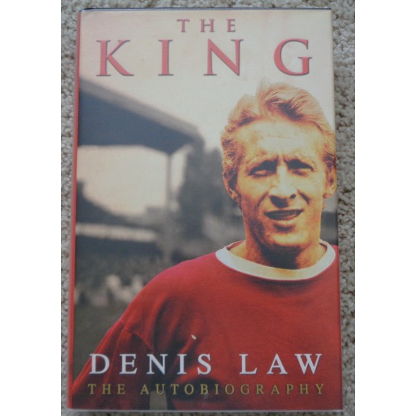 """Denis Law  Man United """"The King"""" genuine authentic autograph signed book"""