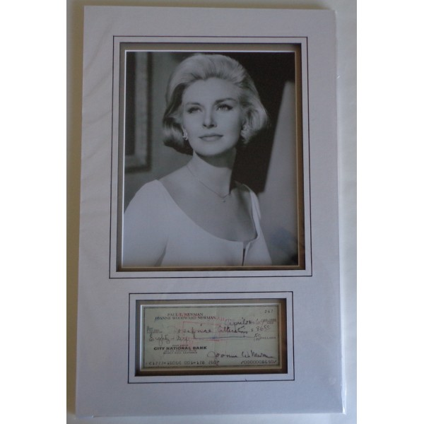 Joanne Woodward genuine authentic signature autograph display