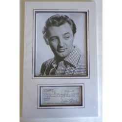 Robert Mitchum genuine authentic signature autograph cheque display