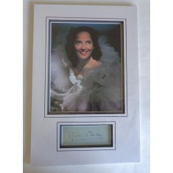 Merle Oberon genuine authentic signature autograph display
