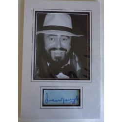 Lucinao Pavarotti authentic genuine signature signed autograph display photo