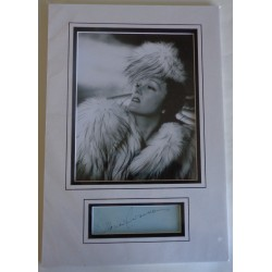 Gloria Swanson authentic genuine signature signed autograph display photo