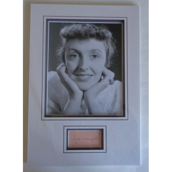 Joyce Grenfell authentic genuine signature signed autograph display photo