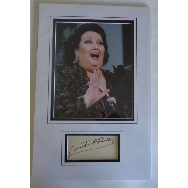 Monserat Caballe authentic genuine signature signed autograph display photo