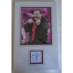 Meatloaf music signed authentic genuine signature autograph display
