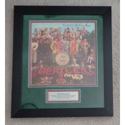 Peter Blake Sgt Pepper authentic signed signature autograph display COA