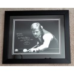 Alex Higgins Snooker authentic signed genuine autograph photo display