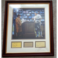 Two Ronnies Barker Corbett signed genuine signature authentic display