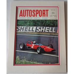 John Surtees Ferrari F1 genuine authentic autograph signed Autosport