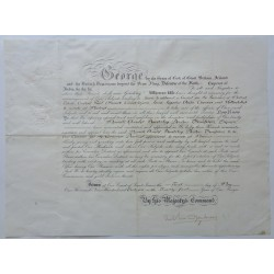 King George V genuine authentic autograph signed document coa UACC