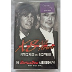 Status Quo Parfitt Rossi genuine authentic autograph signed book COA