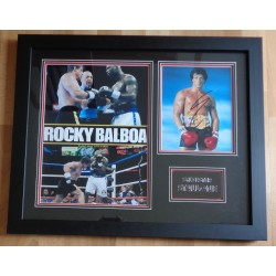 Sly Sylvester Stallone Rocky signed authentic autograph photo framed display