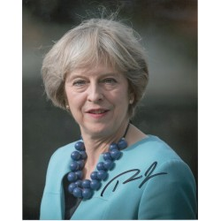 Theresa May Politics PM genuine signed authentic signature photo