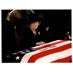 Margaret Thatcher Reagan Funeral authentic genuine signed autograph photo COA UACC