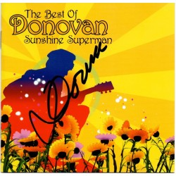 Donovan Sunshine Superman authentic genuine signed autograph CD AFTAL
