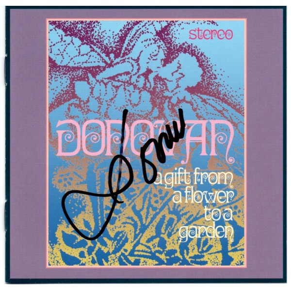 Donovan Gift from a Flower authentic genuine signed autograph CD AFTAL