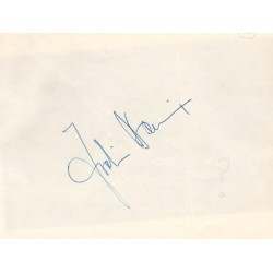 Jo Bonnier F1 genuine authentic signed autograph page
