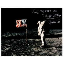 Buzz Aldrin Apollo 11 genuine authentic signed autograph photo COA