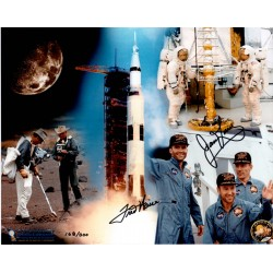 Jim Lovell Fred Haise Apollo 13 authentic signed autograph photo COA