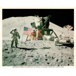 Apollo 15 Jim James Irwin Al Worden autograph authentic genuine signed litho COA