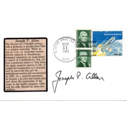 Joseph P Allen NASA astronaut space genuine authentic autograph signed FDC.