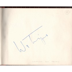 Wolfgang Von Trips Ferrari F1 genuine authentic autograph signed page