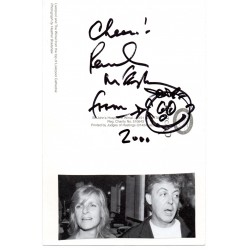 Paul McCartney smiley doodle signed genuine authentic signature COA
