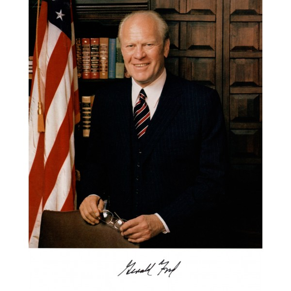 Gerald Ford US President genuine signed authentic autograph image COA