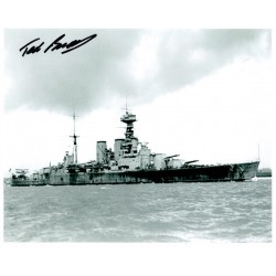 Ted Briggs  HMS Hood genuine authentic autograph signed photo