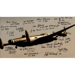 WW2 Lancaster Bomber veterans authentic signed autograph photo COA
