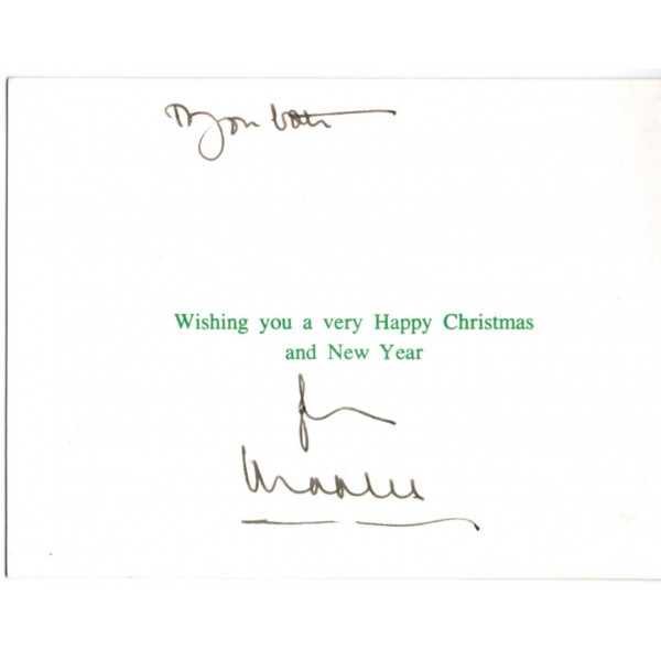 Prince Charles Royalty genuine authentic signed Christmas card AFTAL