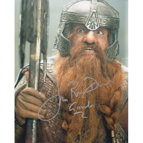 Lord Rings John Ryhs Davis genuine signed authentic autograph photo 3