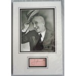 Jimmy Durante signed genuine signature autograph display RACC