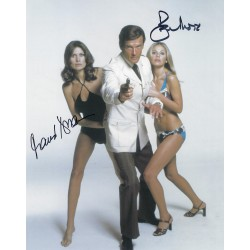 Roger Moore and Maud Adams Signed 8x10 James Bond 007 Photograph