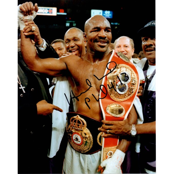 Evander Holyfield boxing signed genuine signature autograph