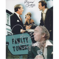 Ken Campbell Bernard Cribbins Fawlty Towers genuine signed authentic signature photo