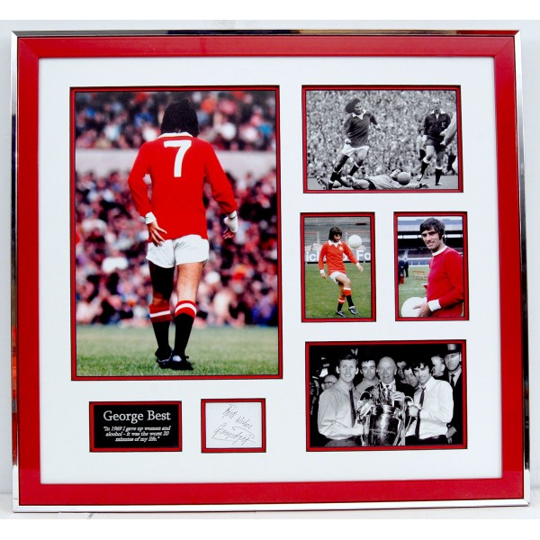 George Best Man United large signed genuine signature autograph display COA