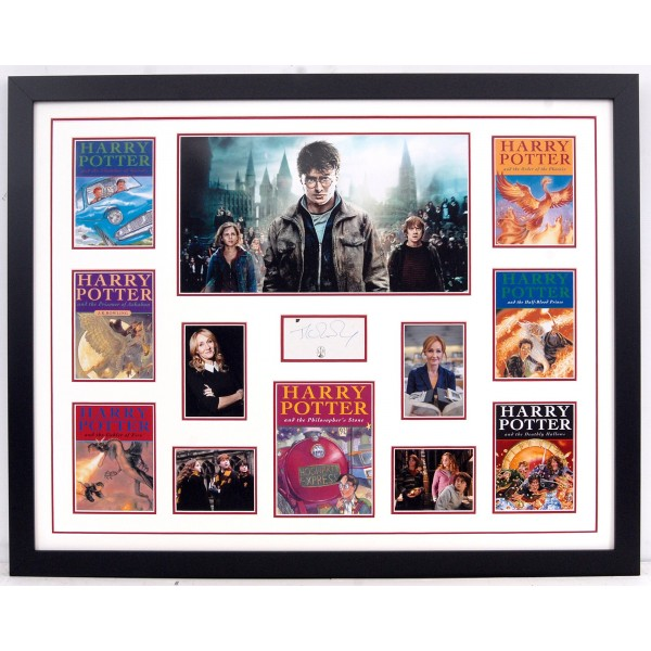 J K Rowling Harry Potter signed genuine signature autograph display COA