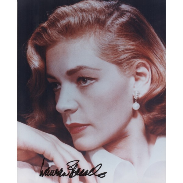 Lauren Bacall genuine authentic signed autograph photo