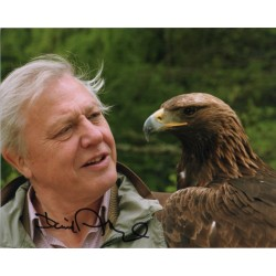 David Attenborough Eagle genuine signed authentic signature photo