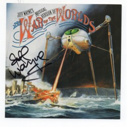 Jeff Wayne War of the Worlds signed genuine signature autograph CD