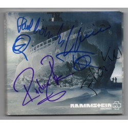 Rammstein Rosenrot music fully signed genuine signature autograph CD COA