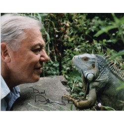David Attenborough lizard signed authentic autograph photo
