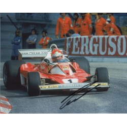 Niki Lauda Ferrari F1 Monaco signed genuine signature autograph photo COA
