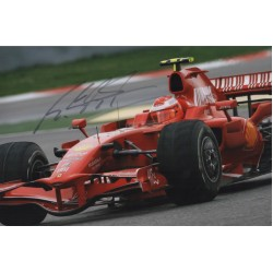 Michael Schumacher Ferrari F1 authentic genuine signed colour photo COA 11