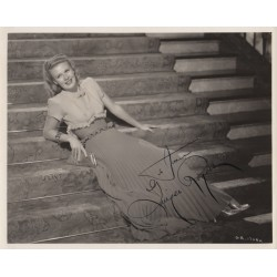 Ginger Rogers vintage genuine authentic autograph signed photo AFTAL UACC